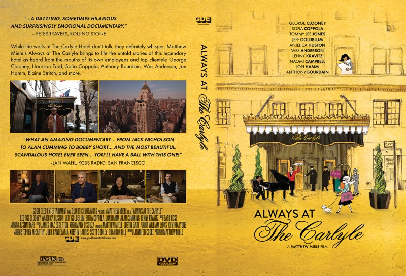 Always At The Carlyle DVD Sleeve