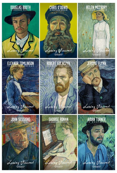 Loving Vincent Character Post Cards